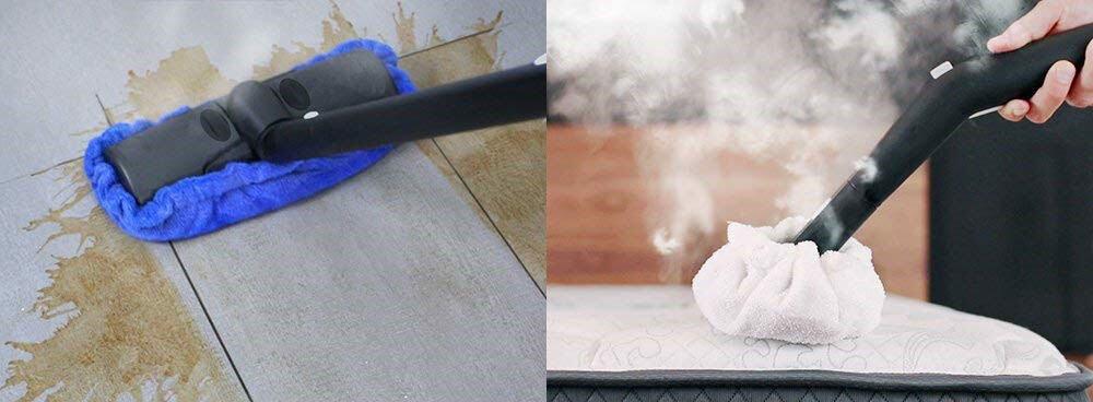 nettoyeur vapeur sur le sol