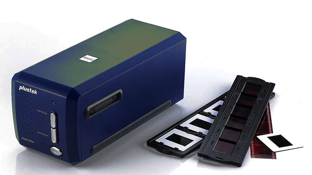 scanner de diapositives avec son porte pellicules